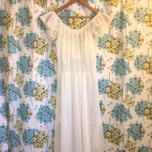 Vintage white sheer night gown